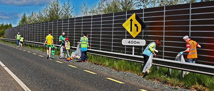 Litter Picking on Castleblayney By-Pass