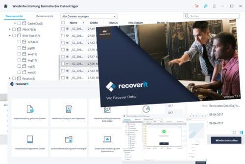 [Anzeige] Mit RecoverIt Daten von Speicherkarten retten