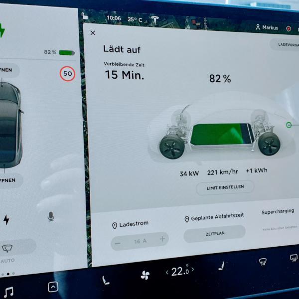 5.000 Kilometer mit dem Tesla Model 3 - Destination Charger und günstig DC-Laden