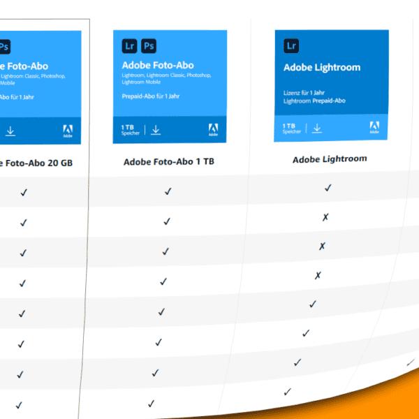 Adobe Foto-Abo und Creative Cloud All Apps Prepaid im Angebot