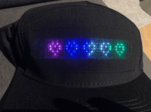 Marquee Scrolling Text Programmable Message Light Up Hat With App photo review