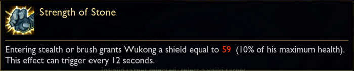 Wukong Passive - Tooltip in League of Legends from PBE