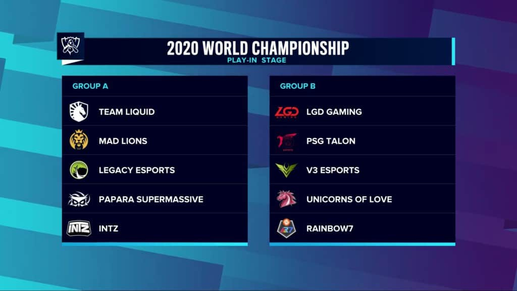 Worlds 2020 Play-In