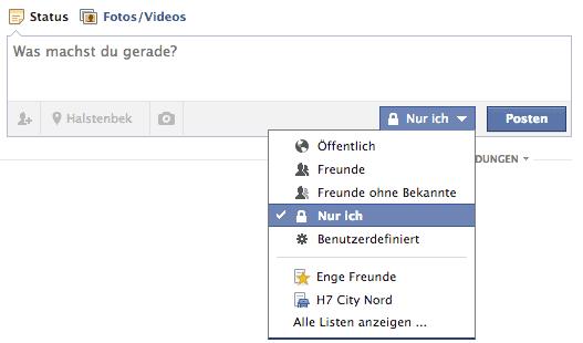 Facebook Profilbild ohne Meldung ändern.