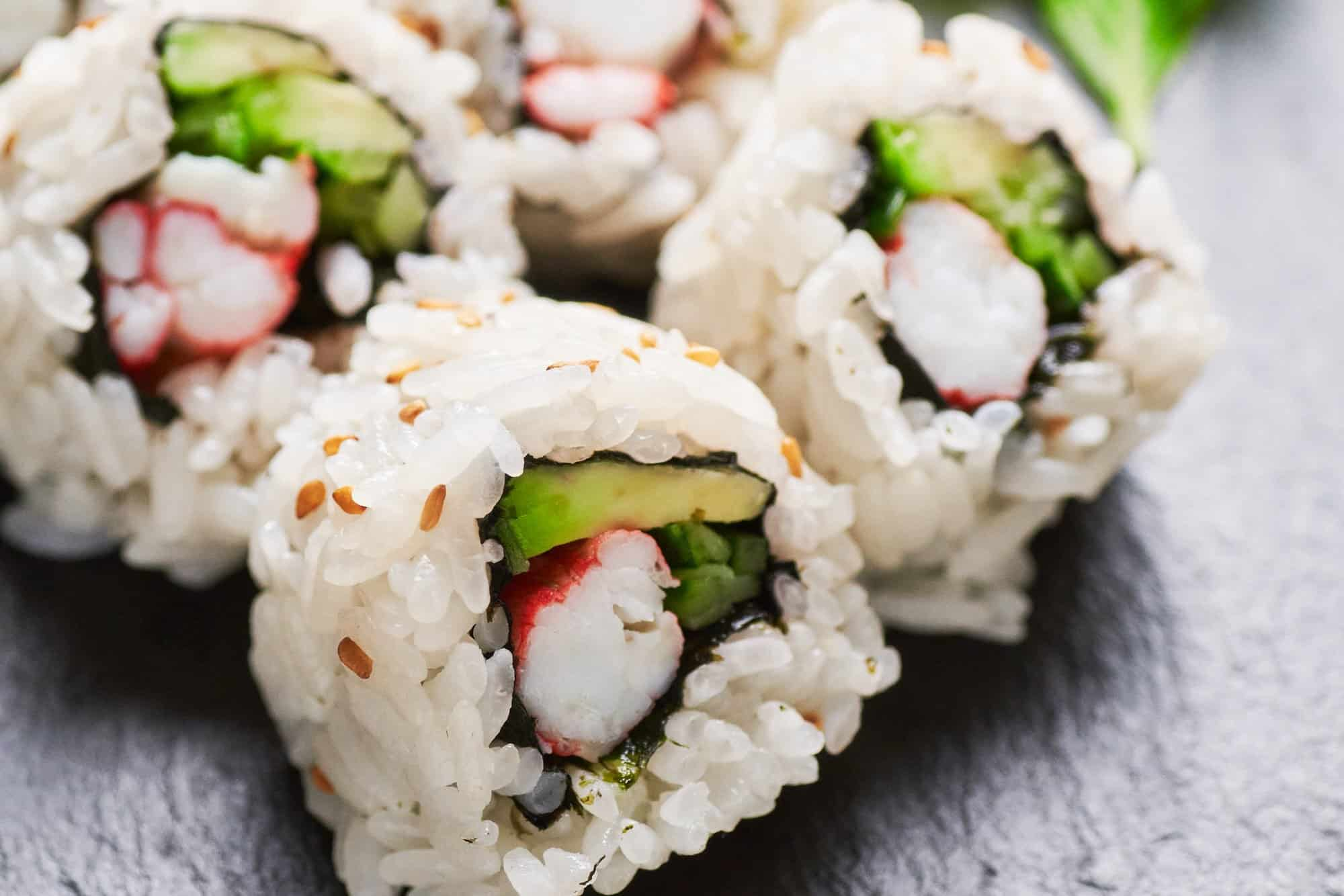 With creamy avocado and flavorful king crab, this California Roll recipe is easy and delicious!