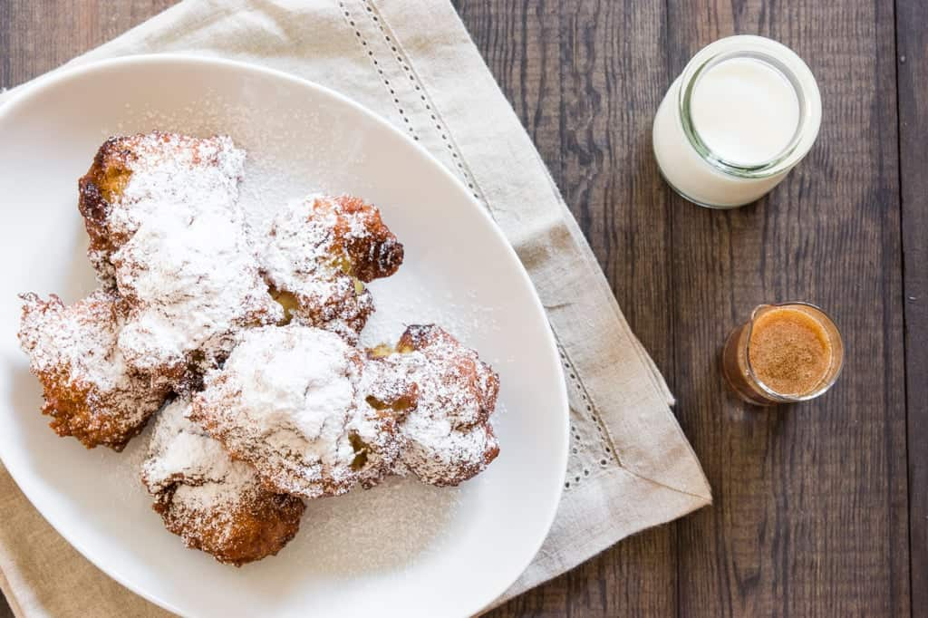 These banana fritters are crisp on the outside and warm and tender on the inside.