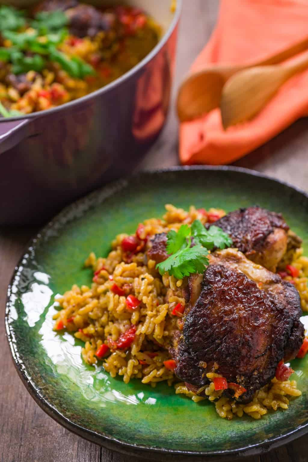 Here are my tricks for making the BEST Arroz con Pollo, an easy and delicious one-pot meal.