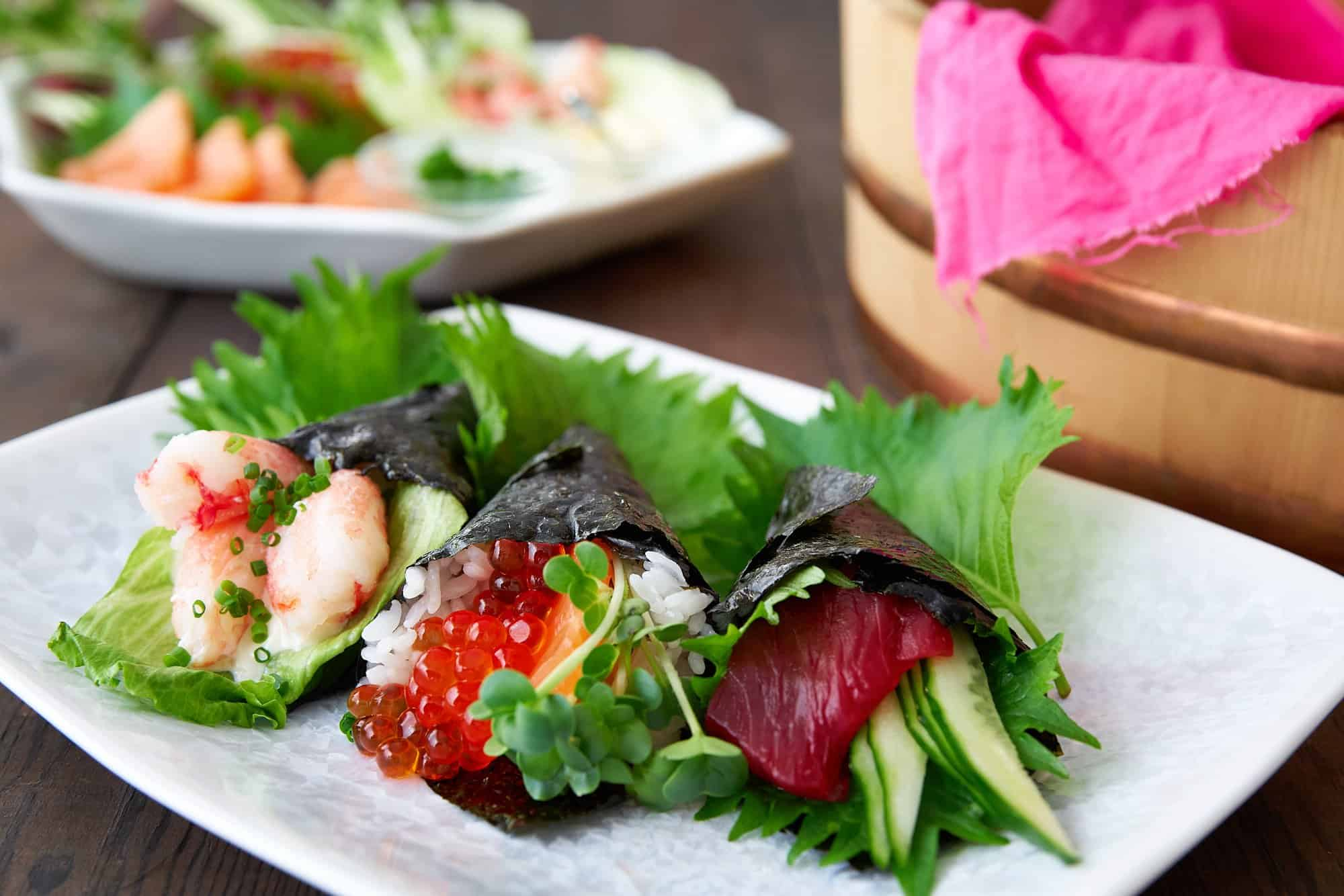 Temaki is a type of hand-rolled sushi that anyone can make at home with your favorite filling ingredients.