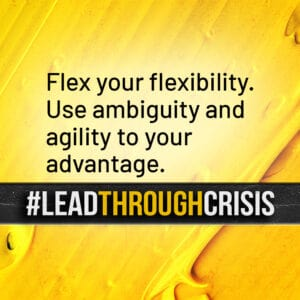 Flex your flexibility. Use ambiguity and agility to your advantage.