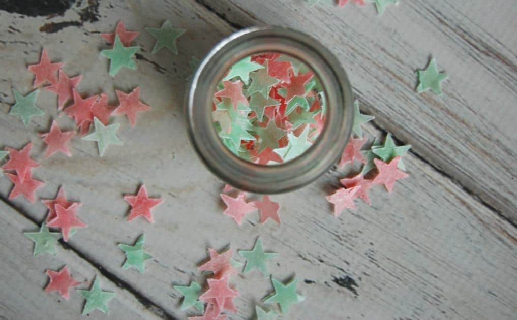 DIY Christmas Bath Confetti