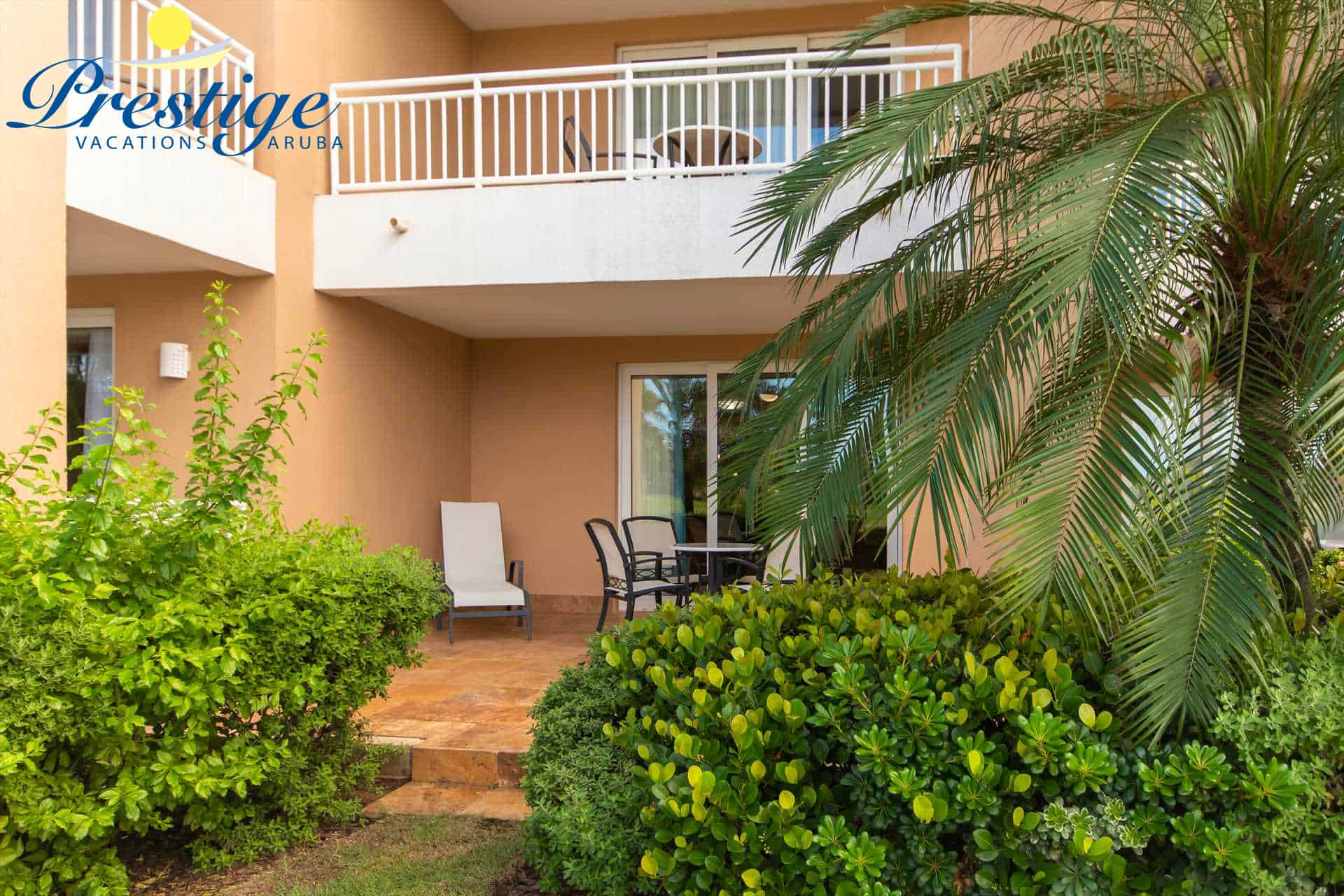 Your private terrace in a calming resort environment