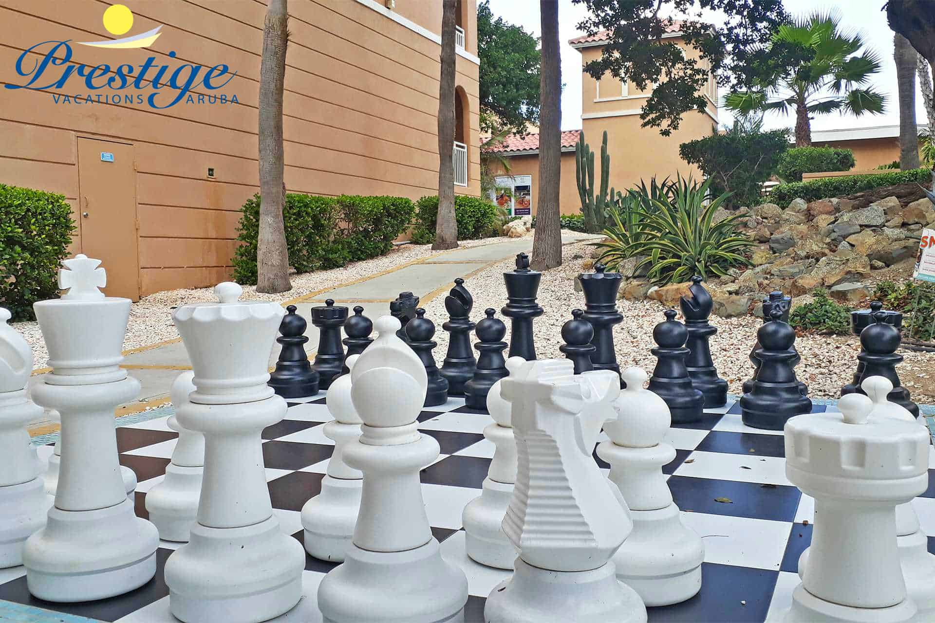 Enjoy a game of Chess during your stay at the Divi resort