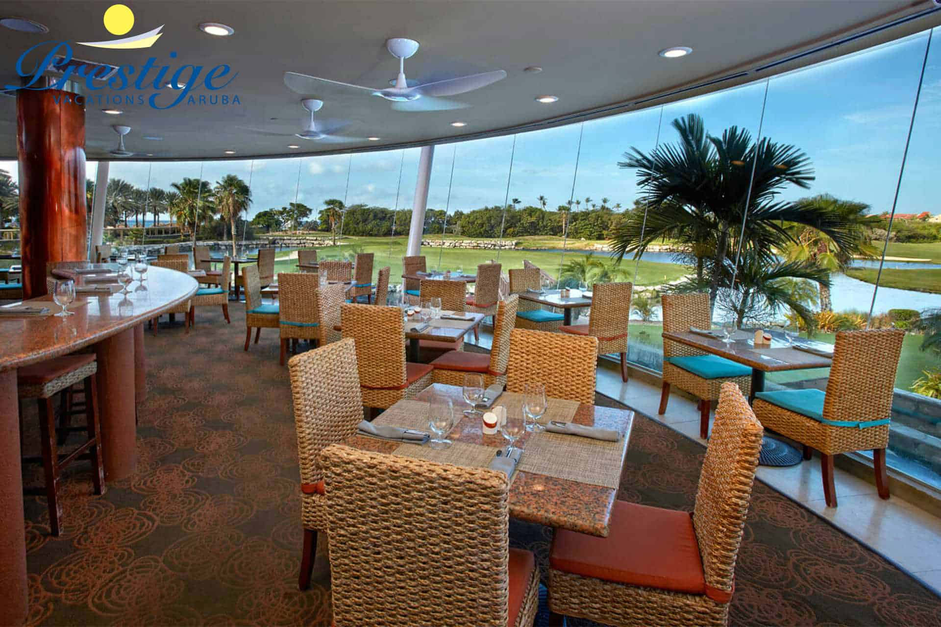 Mulligan's Golf Cafe, Bar & Restaurant - located at the Divi Clubhouse - serving breakfast, lunch, happy hour & dinner