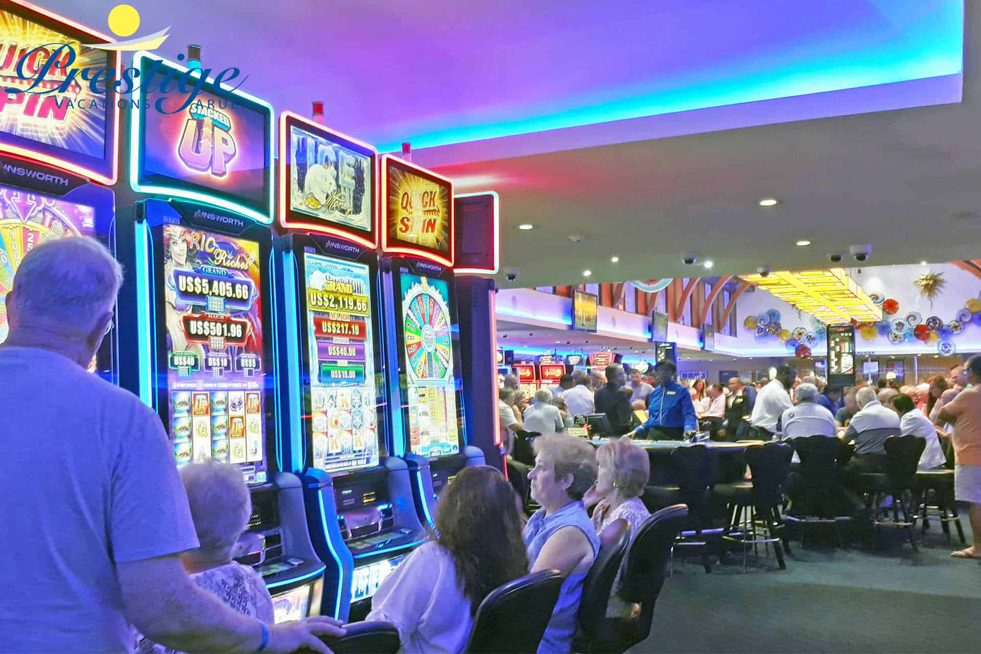 The Alhambra Casino with a variety of slots games, video gaming, and table games
