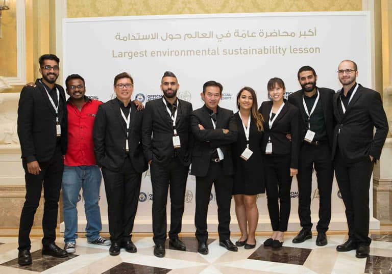 Guinness World Record Breaking event for Zayed Sustainability Prize – Light Up The Future.