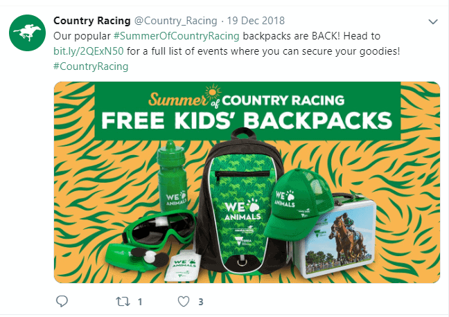 Event crowd engagement campaign - Summer of Country Racing Country Racing Victoria