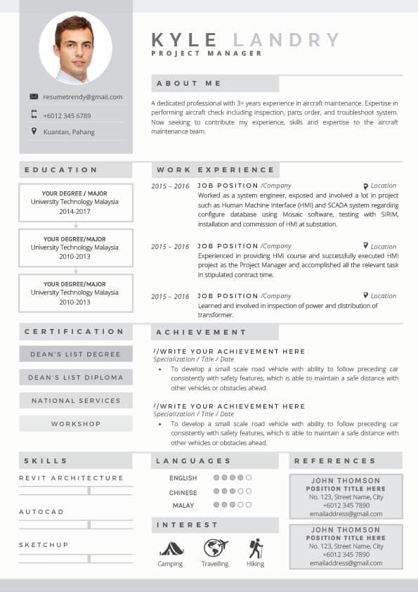 Arrow-Silver-ResumeTemplates