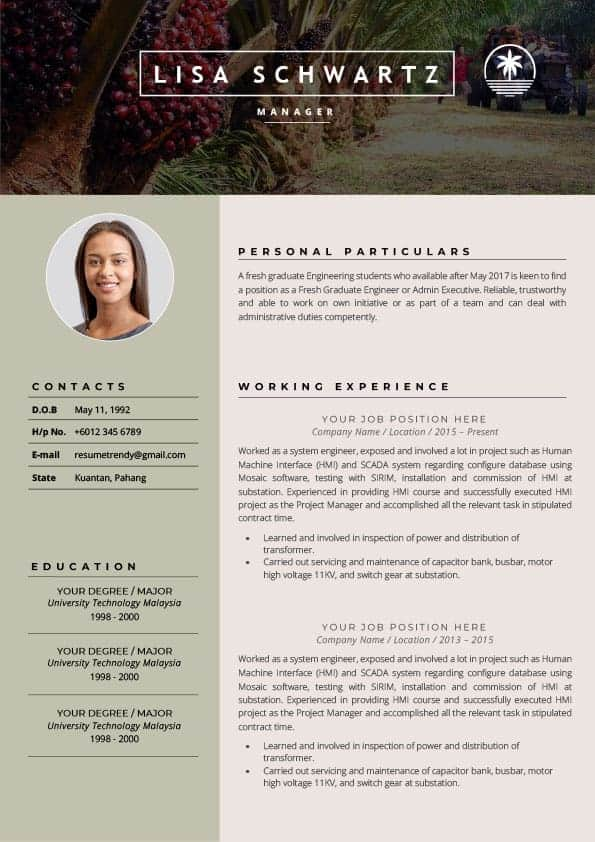 Plantation resume
