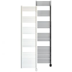 Rointe Giza Oval electric towel rail 1000W in white or chrome