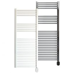Rointe Giza Oval electric towel rail 500W in white or chrome