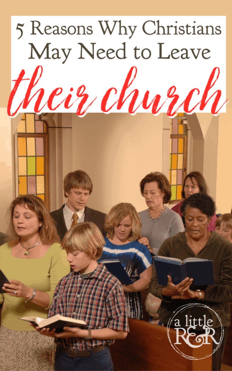 Leaving your church is not an easy decision, but there are times when Christians may need to leave their church. Here are 5 reasons.. #alittlerandr #church #Christians #ChristianLiving via @alittlerandr