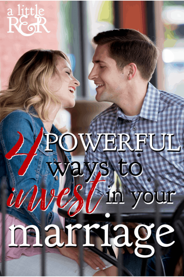 Life gets busy and messy after you have kids and we find that marriage takes a backseat. Here are 4 powerful ways to invest in your marriage. #alittlerandr #marriage #marriagetools #marriedlife  via @alittlerandr