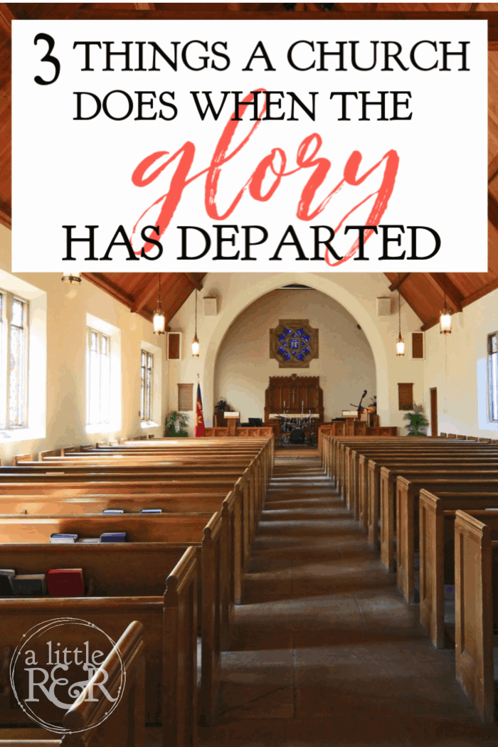 While Christianity continues to grow in popularity around the world, there is a distinct lack of holiness and power. Here are 3 things the church does when the glory has departed. #alittlerandr #church #christianity #newage #meditation #homosexuality #purity #yoga #enneagrams via @alittlerandr