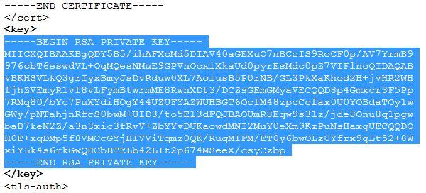 client key sample