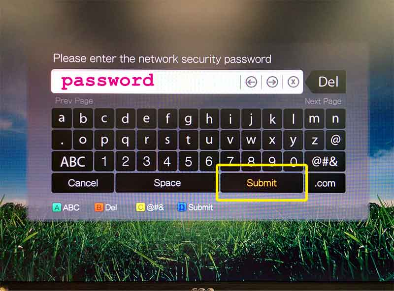 enter your network password