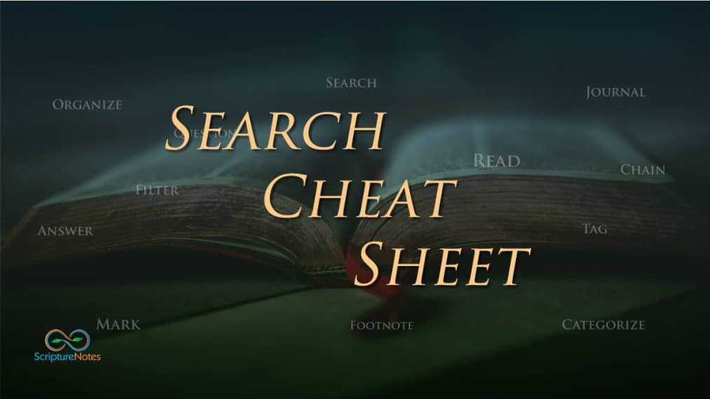search cheat sheet