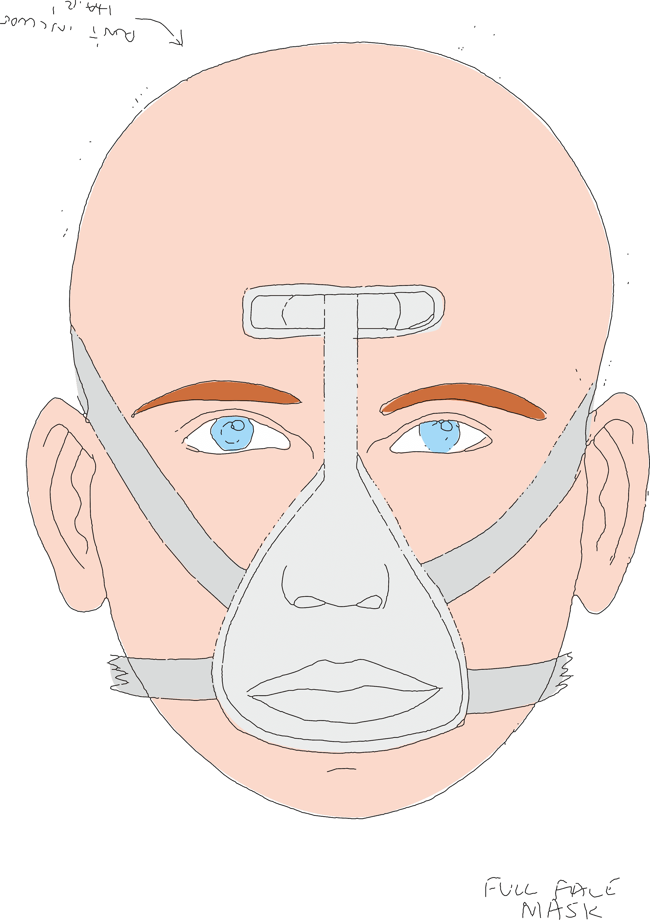 Full-face PAP mask sleep apnoea