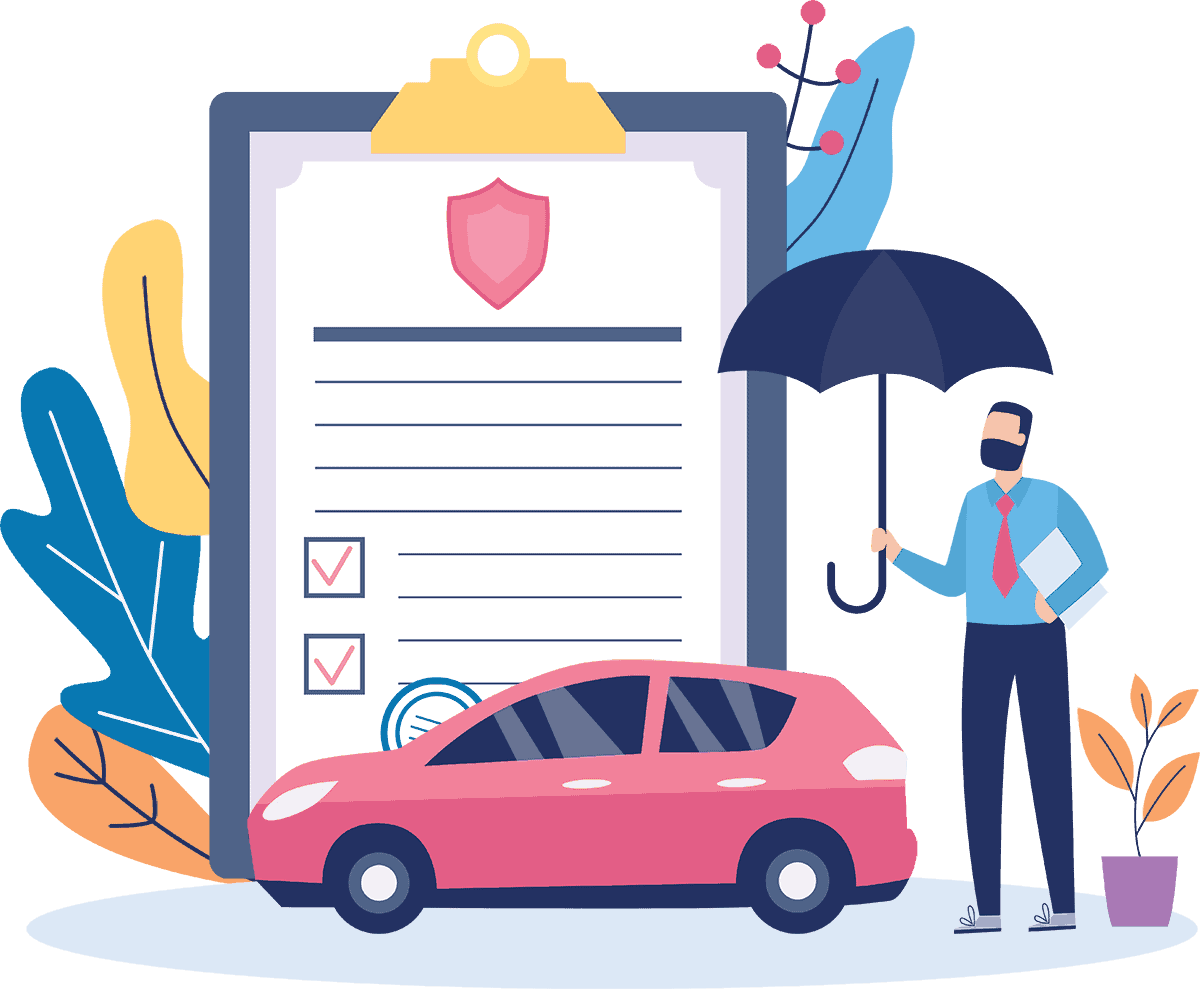 Auto insurance illustration