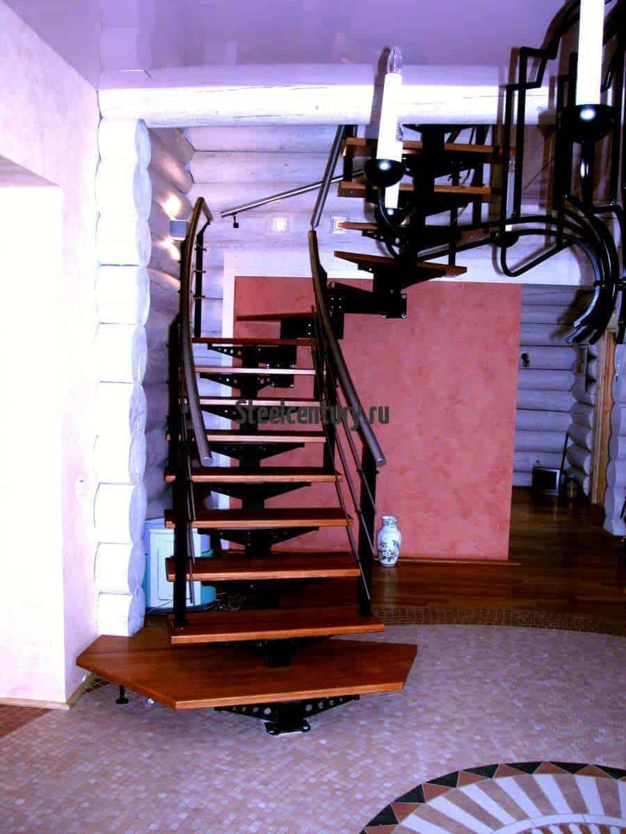 металлическая лестница в частный дом