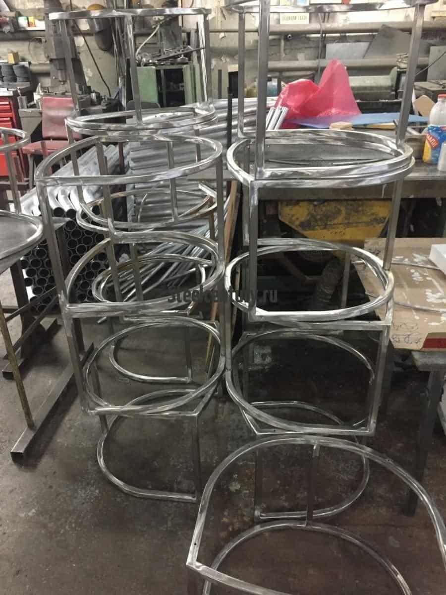 Стулья лофт из нержавеющей стали