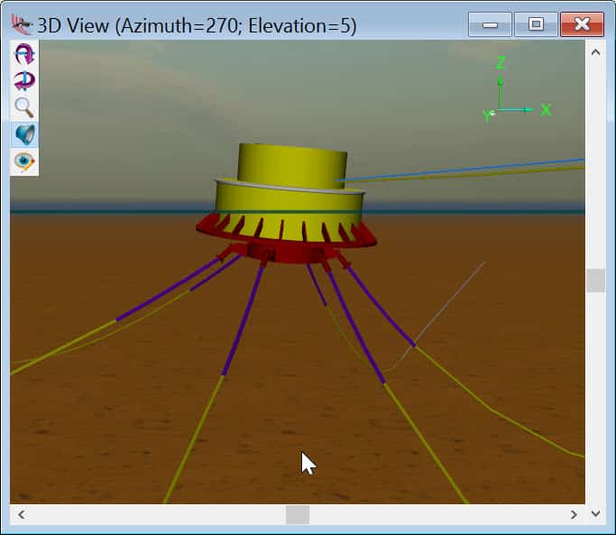 CALM Buoy modeled in OrcaFlex