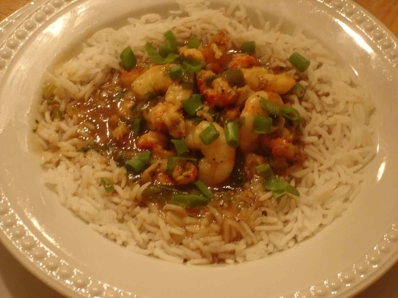 Shrimp and Crawfish Etouffee