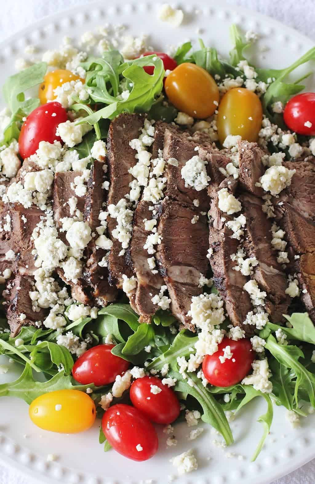Sirloin Steak and Arugula Salad