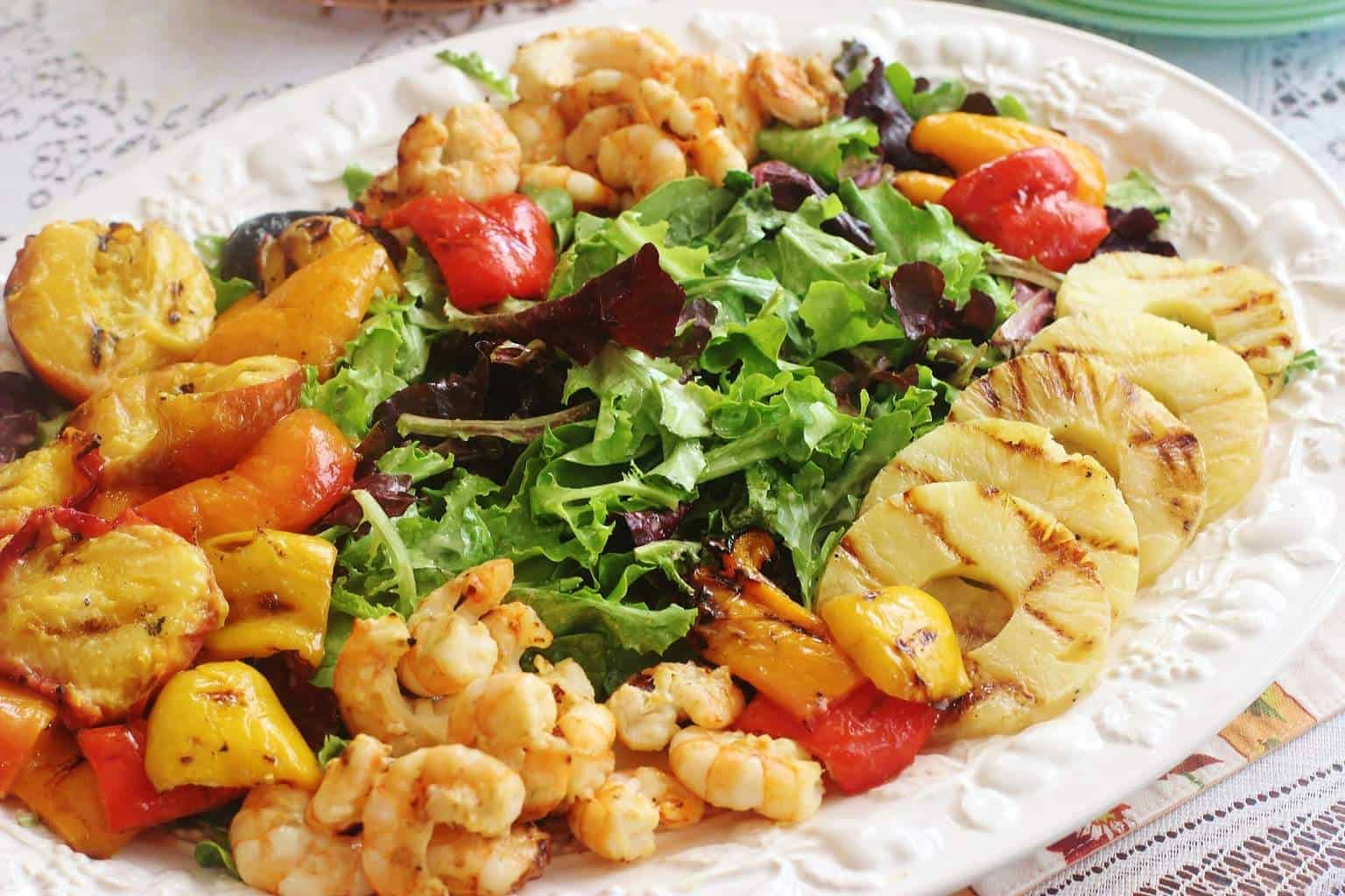 Grilled Shrimp and Fruit Salad