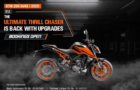 KTM Duke 200 BS6 Pre-Booking Opens in Nepal: What's New in BS6 Version?