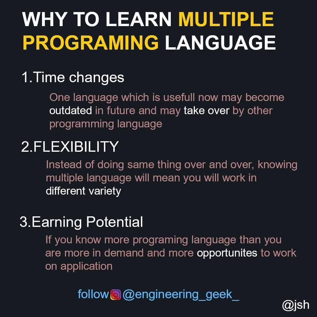 Why to Learn Multiply Programming Language