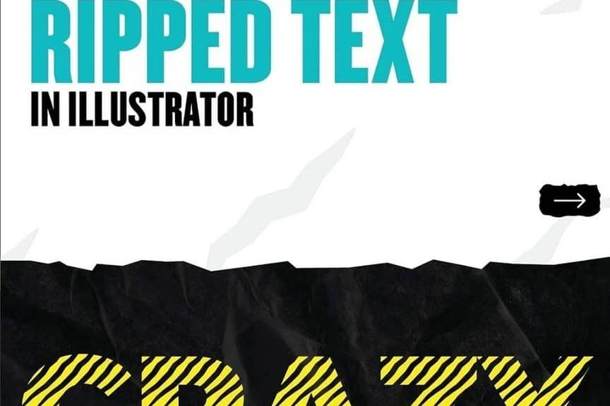 How to Create this Amazing Ripped Text in Illustrator