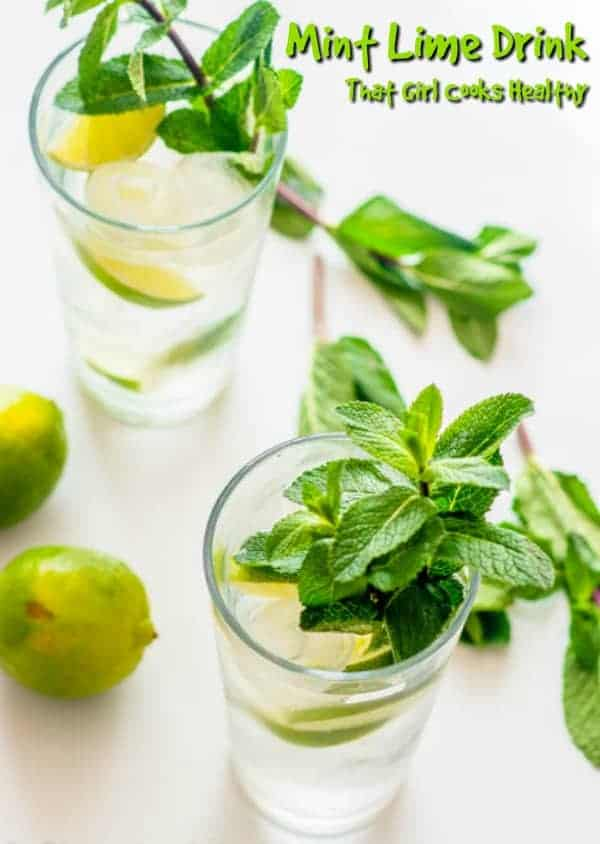 This mint and lime infused drink is the perfect summer time, cool down detox beverage