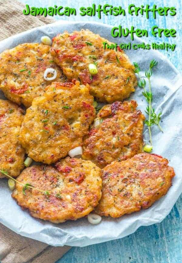 This Jamaican saltfish recipe is made using gluten free flour, generously seasoned and lightly fried for a golden crisp coating with a soft chewy interior.