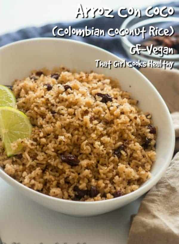 Hailing from the Caribbean coastline this Arroz Con Coco aka Colombian coconut rice makes the perfect appetizer or side dish