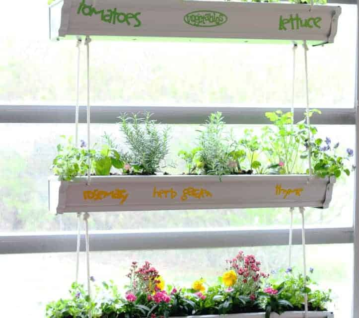 Hanging Gutter Planter – Easy DIY