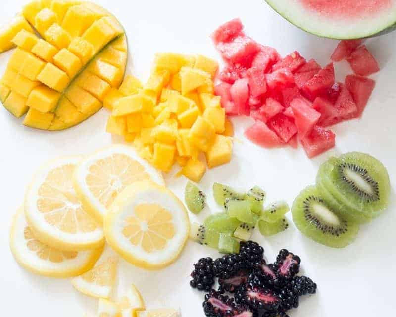 How To Make Simple Fruit Infused Ice Cubes