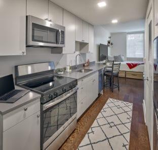 Student apartment studio kitchen gallery