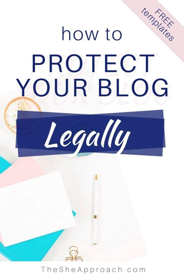 The Four Legal Pages You Need to Have on Your Blog When You Launch