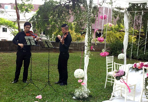 Violin Duet for Wedding at Fort Canning Park