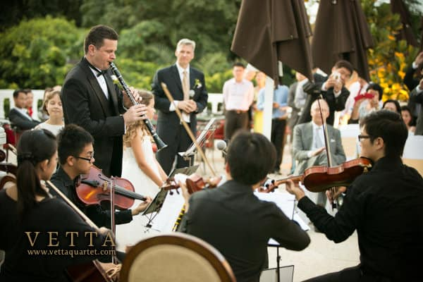 String Quartet for Wedding at Alkaff Mansion